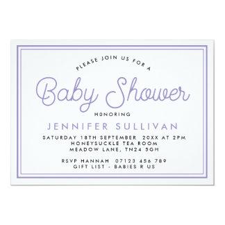 Modern Typographic Baby Shower Invitation