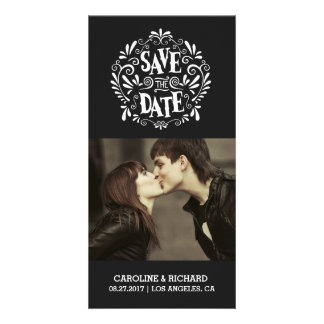 MODERN TYPOGRAPHY   BLACK   SAVE THE DATE CARD PERSONALISED PHOTO CARD