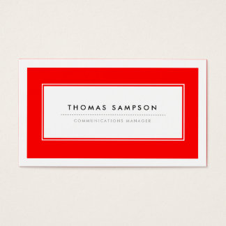 Modern Typography Business Cards - Red