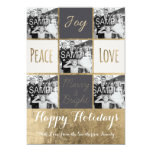 Modern typography Christmas gold photo collage 13 Cm X 18 Cm Invitation Card