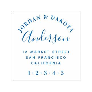 Modern Typography & Elegant Script Return Address Self-inking Stamp