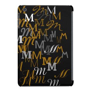 modern typography M initials pattern iPad Mini Retina Covers