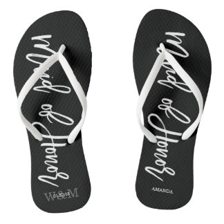 """Modern Typography """"Maid of Honor"""" Thongs"""