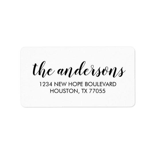 Modern Typography Return Address Labels