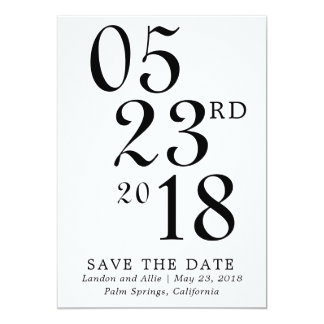 Modern Typography Save the Date Card