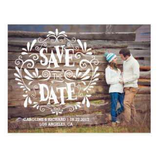 MODERN TYPOGRAPHY | SAVE THE DATE POSTCARD