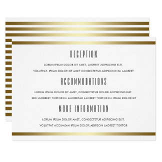 Modern Typography | White & Gold Wedding Guest Card