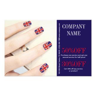 "modern UK fashion  beauty nail artist nail salon 5.5"" X 8.5"" Flyer"