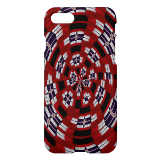 Modern unique different red blue white pattern iPhone 7 case