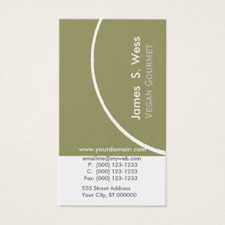 Modern Unique Sage Green  w Half Circle Modern Business Card