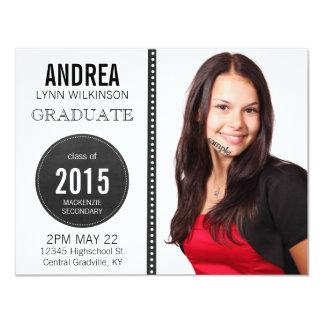 Modern Unisex Chalkboard Graduation Personalized Invites