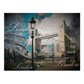 modern urban chic london british fashion postcard