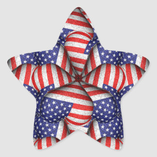 Modern Usa Flag Pattern Star Sticker