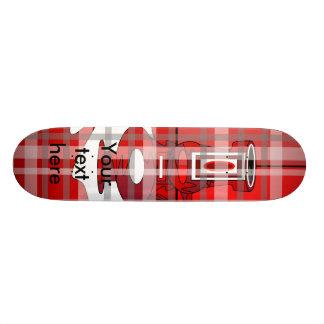 Modern vases in red plaid 18.1 cm old school skateboard deck