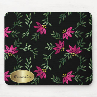 Modern Victorian Floral | Personalize Mouse Pad