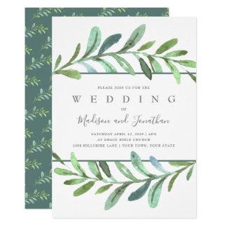 Modern Vines Botanical Wedding Invitation