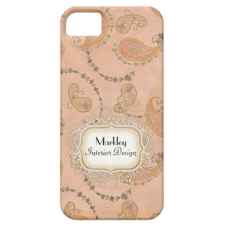 Modern Vintage Art Paisley Tea Stained Aged Swirls iPhone 5 Cover