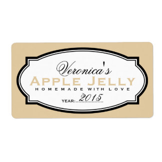 MODERN VINTAGE BEIGE | PERSONALIZED STICKER