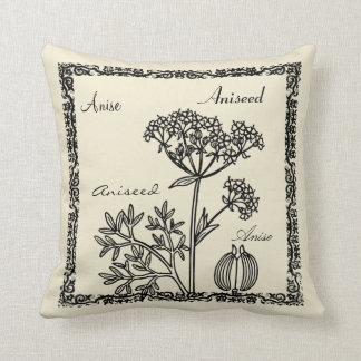 Modern vintage botanical flower illustration cushion