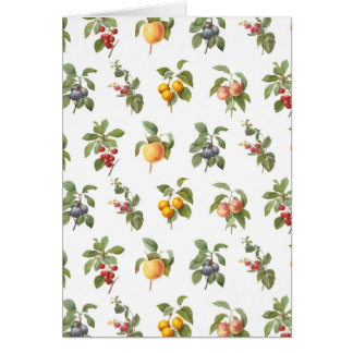 modern vintage botanical fruits card