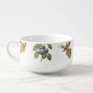 modern vintage botanical fruits soup mug