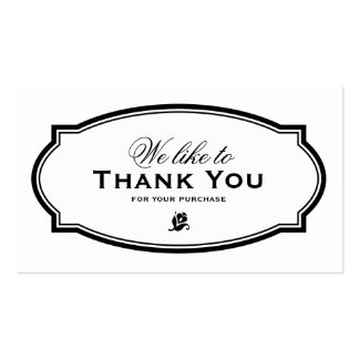 MODERN VINTAGE   BUSINESS THANK YOU CARD PACK OF STANDARD BUSINESS CARDS