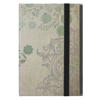 Modern Vintage Butterfly Wallpaper Floral Pattern Cases For iPad Mini