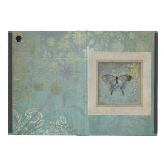 Modern Vintage Butterfly Wallpaper Floral Pattern iPad Mini Case