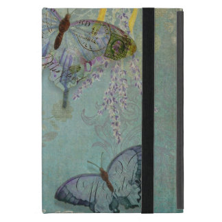 Modern Vintage Butterfly Wallpaper Floral Pattern iPad Mini Cover
