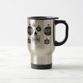 modern vintage Christmas ornaments Mugs