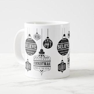 modern vintage Christmas ornaments Jumbo Mug