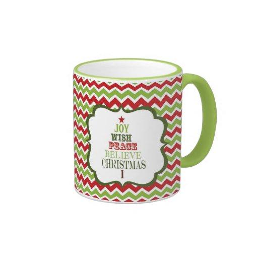 modern vintage Christmas tree mug