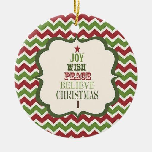modern vintage Christmas tree ornament