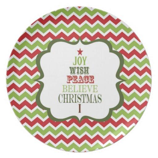 modern vintage Christmas tree plate
