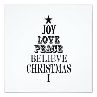 modern vintage christmas word tree announcement