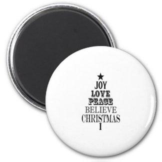 modern vintage christmas word tree refrigerator magnets