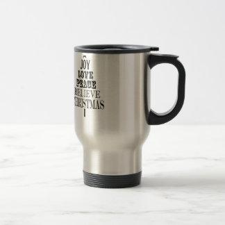 modern vintage christmas word tree mug