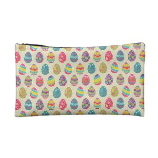 Modern Vintage Easter Eggs Decoration Pattern Makeup Bags