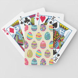 Modern Vintage Easter Eggs Decoration Pattern Deck Of Cards