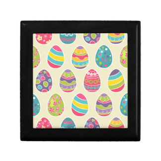 Modern Vintage Easter Eggs Decoration Pattern Small Square Gift Box