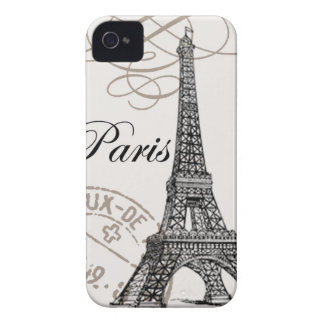 modern vintage Eiffel Tower iPhone 4 Case-Mate Cases