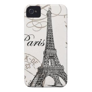 modern vintage Eiffel Tower iPhone4 Case