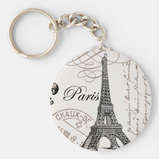 modern vintage Eiffel Tower Key Chain