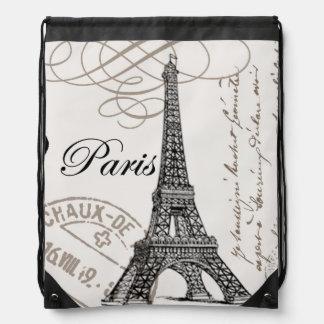 modern vintage Eiffel Tower Backpack