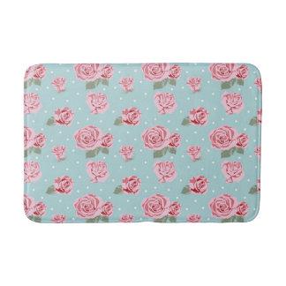 Modern Vintage Elegant Rose Bath Mat