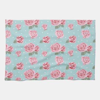 Modern Vintage Elegant Rose Tea Towel