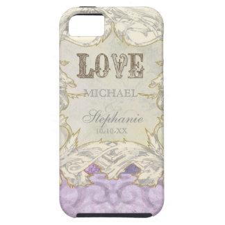 Modern Vintage Etching Swirl Flourish Love Wedding Case For The iPhone 5