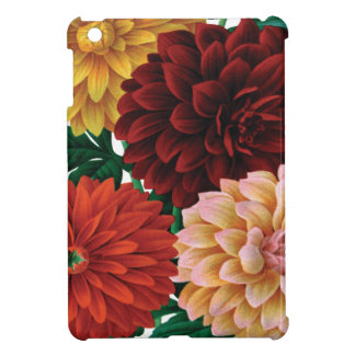 Modern vintage fall dahlias iPad mini cases