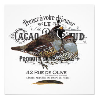 modern vintage fall quail personalized announcement