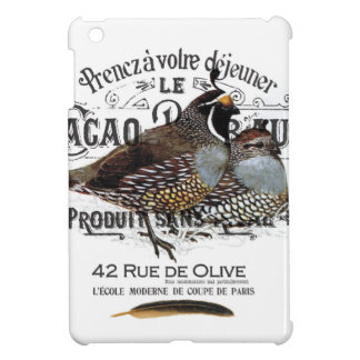 modern vintage fall quail iPad mini case